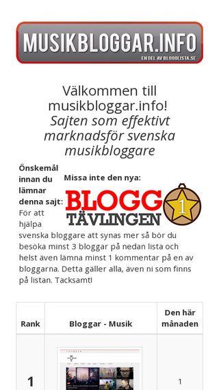 Mobile preview of trubadurstockholm.nu