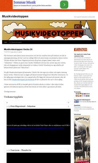Mobile preview of musikvideotoppen.se