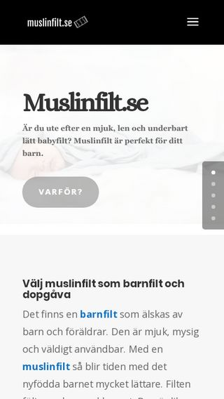 Mobile preview of muslinfilt.se