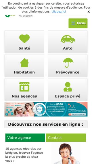 Mobile preview of mutuelle-emoa.fr