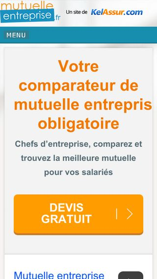 Mobile preview of mutuelle-entreprise.fr