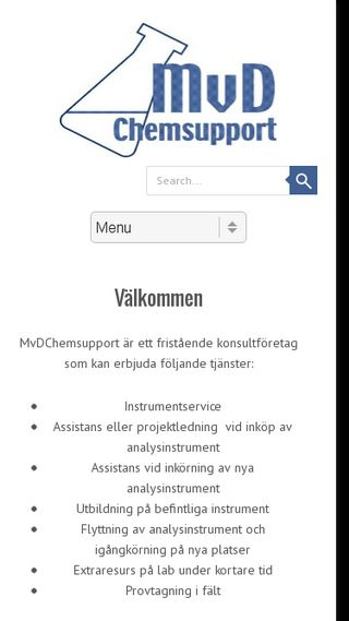 Mobile preview of mvdchemsupport.se