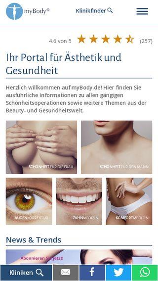 Mobile preview of mybody.de