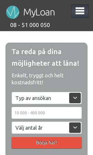 Mobile preview of myloan.se