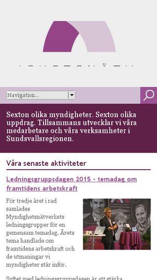 Mobile preview of myndighetsnatverket.se