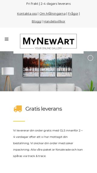 Mobile preview of mynewart.se