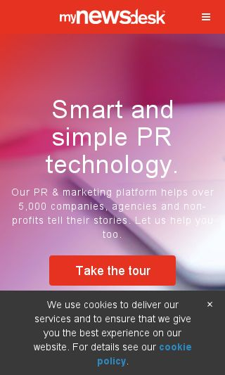 Mobile preview of mynewsdesk.com