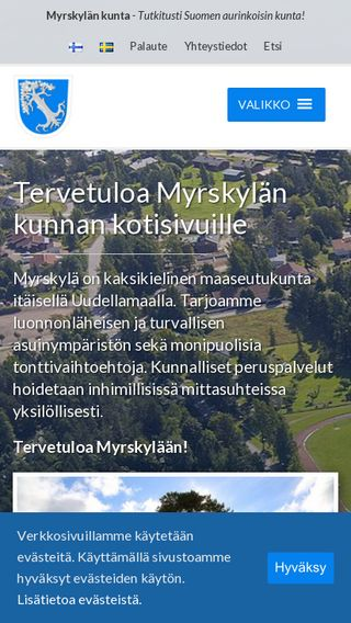 Mobile preview of myrskyla.fi