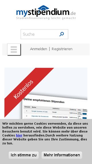 Mobile preview of mystipendium.de