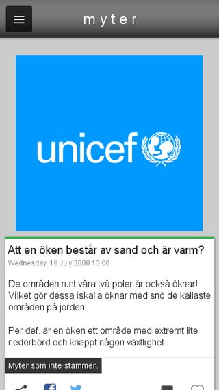 Mobile preview of myter.blogg.se
