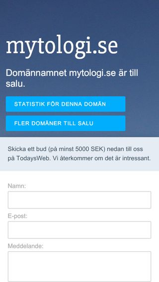 Mobile preview of mytologi.se