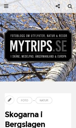 Mobile preview of mytrips.se