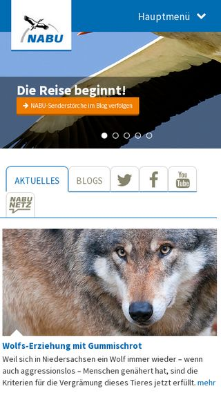 Mobile preview of nabu.de