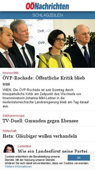 Mobile preview of nachrichten.at