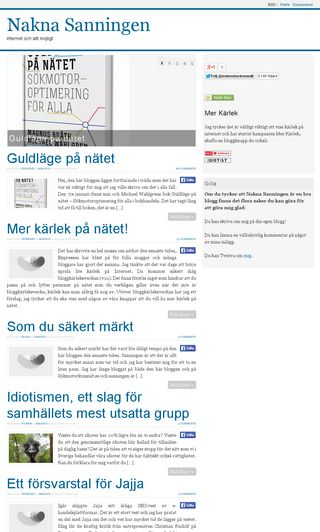 Mobile preview of naknasanningen.com