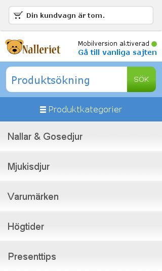 Mobile preview of nalleriet.se