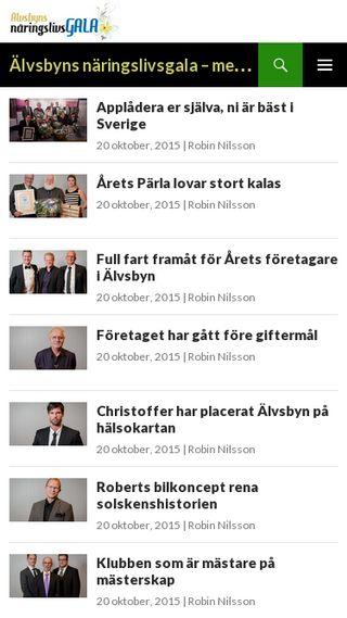 Mobile preview of naringslivsgala.se