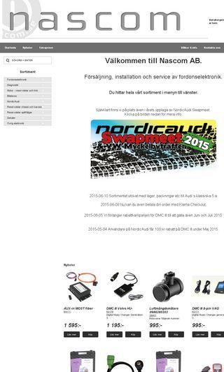Mobile preview of nascom.se