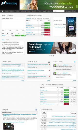 Mobile preview of nasdaqomxnordic.com