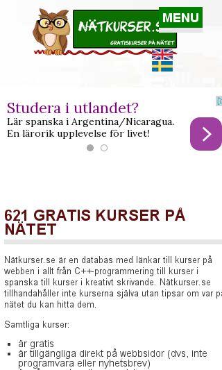 Mobile preview of natkurser.se