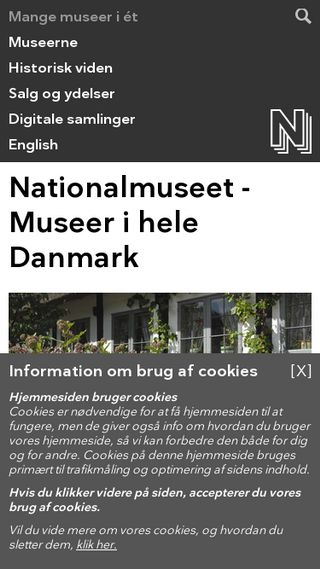 Mobile preview of natmus.dk