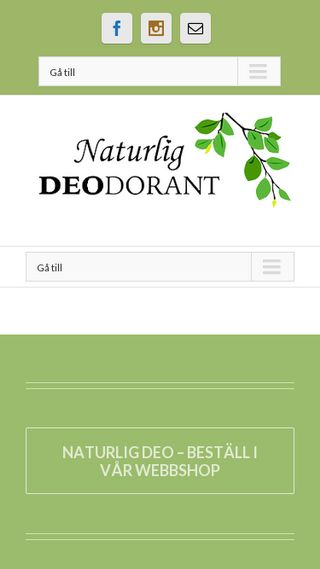 Mobile preview of naturligdeo.se