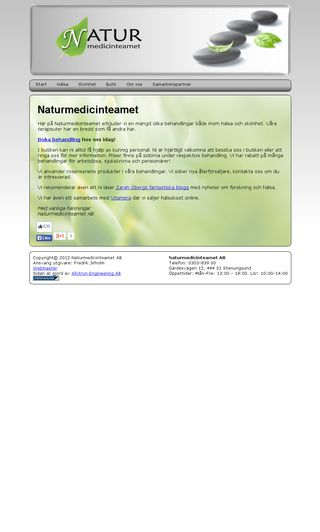 Mobile preview of naturmedicinteamet.com