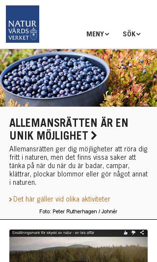 Mobile preview of naturvardsverket.se