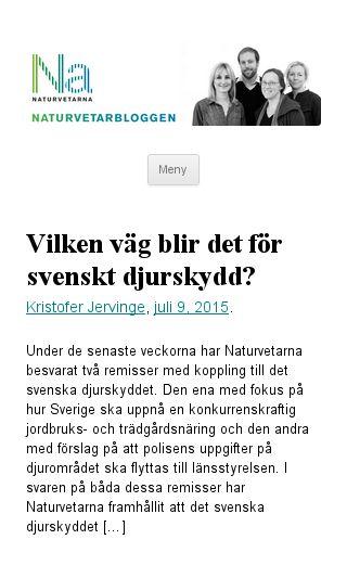 Mobile preview of naturvetarbloggen.se