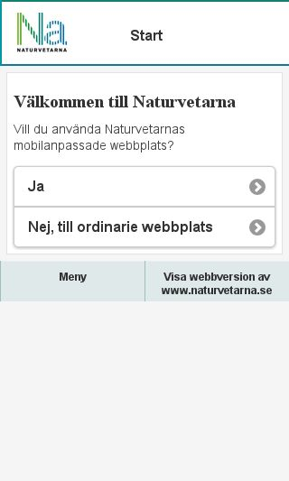 Mobile preview of naturvetarna.se