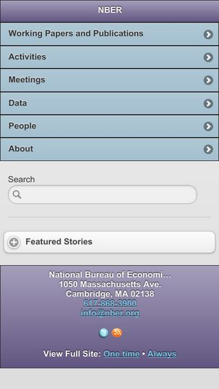 Mobile preview of nber.org