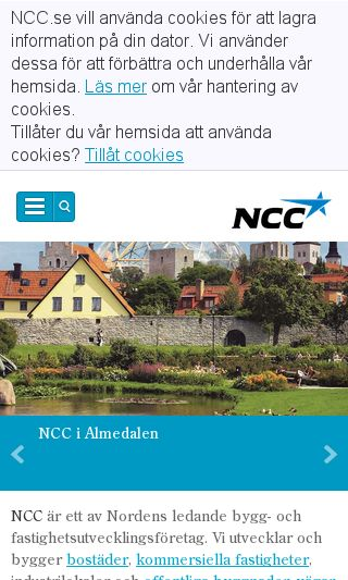 Mobile preview of ncc.se