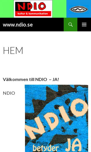 Mobile preview of ndio.se