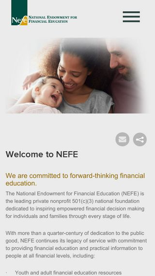 Mobile preview of nefe.org