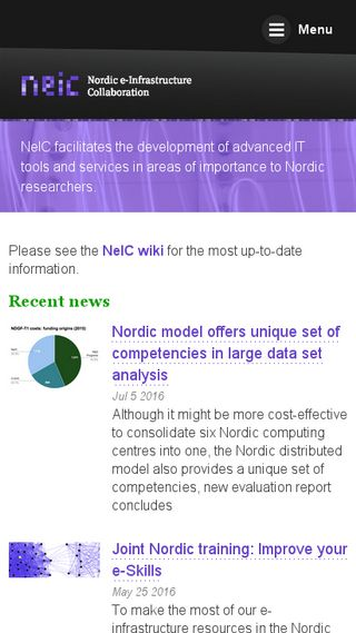 Mobile preview of neic.no