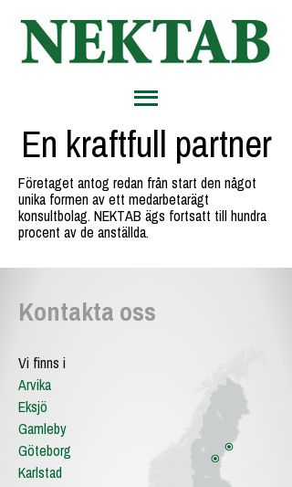 Mobile preview of nektab.se