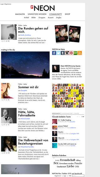 Mobile preview of neon.de