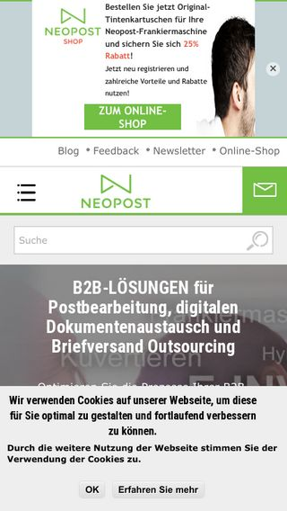 Mobile preview of neopost.de