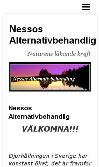 Mobile preview of nessosalternativbehandling.se