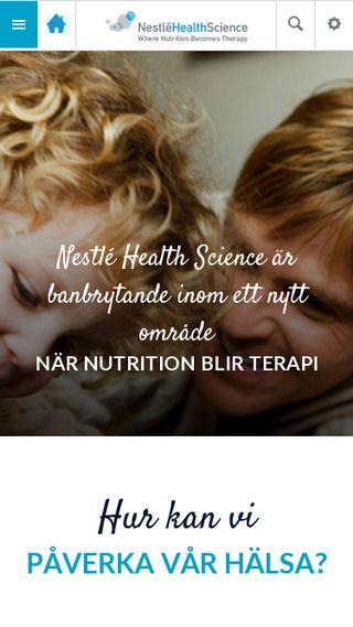 Mobile preview of nestlehealthscience.se