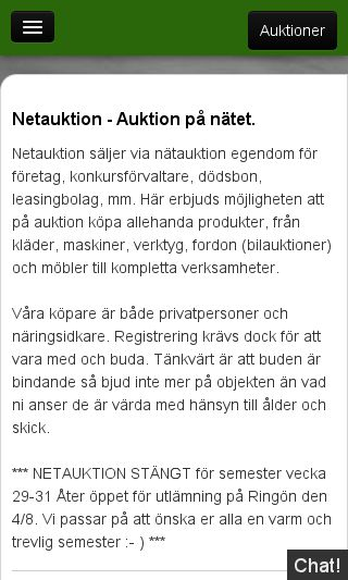 Mobile preview of netauktion.se