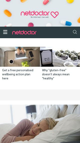 Mobile preview of netdoctor.co.uk