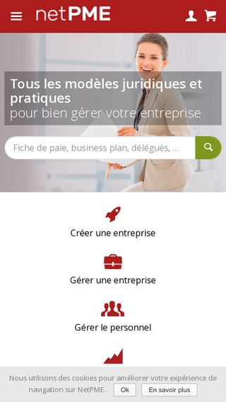 Mobile preview of netpme.fr