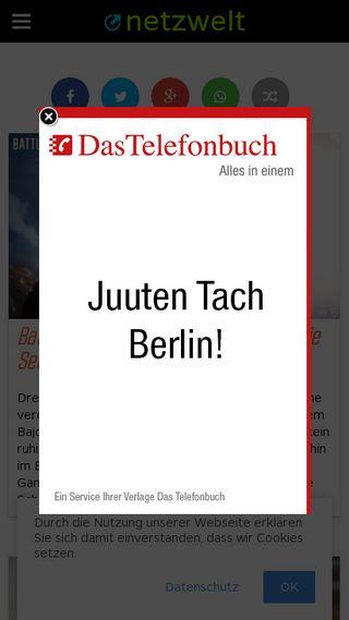Mobile preview of netzwelt.de
