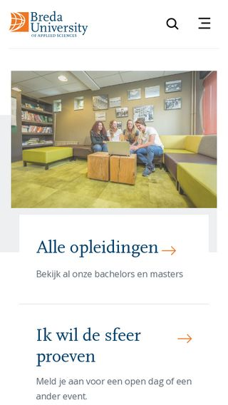 Mobile preview of nhtv.nl