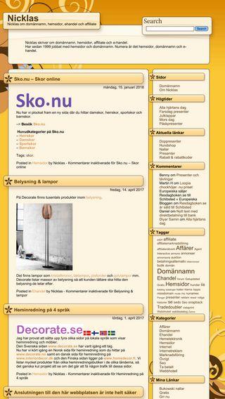 Mobile preview of nicklas.nu