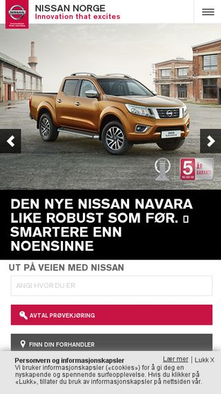 Mobile preview of nissan.bnh.no