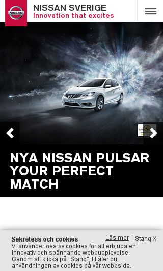 Mobile preview of nissan.se