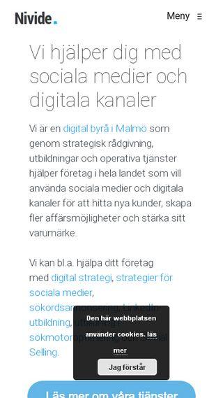 Mobile preview of nivide.se