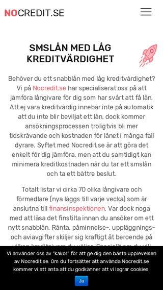 Mobile preview of nocredit.se